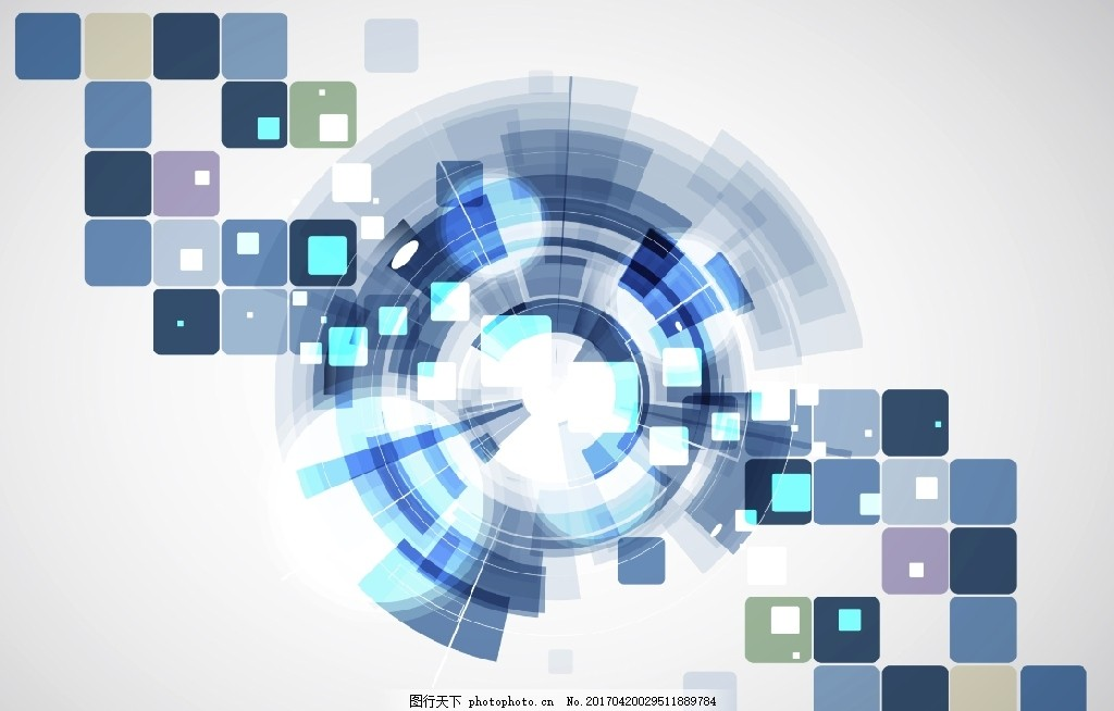 未来科技蓝白色背景,蓝色几何背景,几何图形,马赛克背景,格子,方块背景,方形